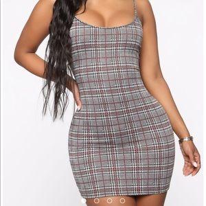 fashion nova plaid mini dress